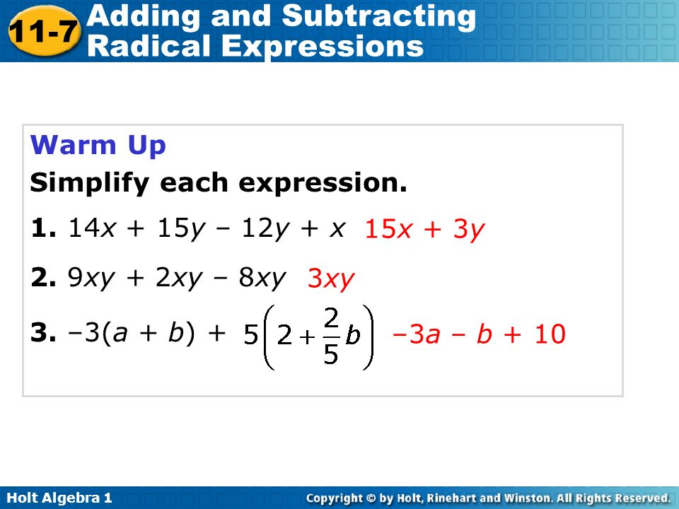 Simplifying Adding And Subtracting Radicals Worksheet adding and – Addition and Subtraction of Radicals Worksheet