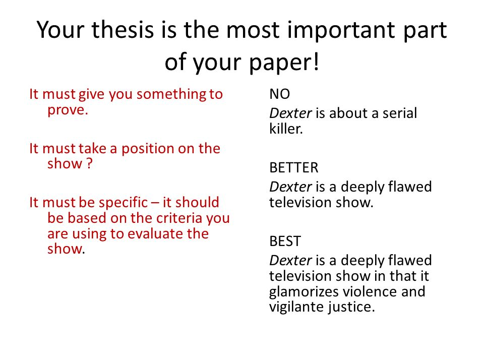 3 point thesis
