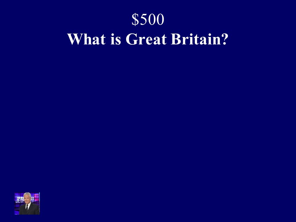 $500 The Industrial Revolution occurred in this country because of large coal deposits, good water transportation and a less rigid social structure.