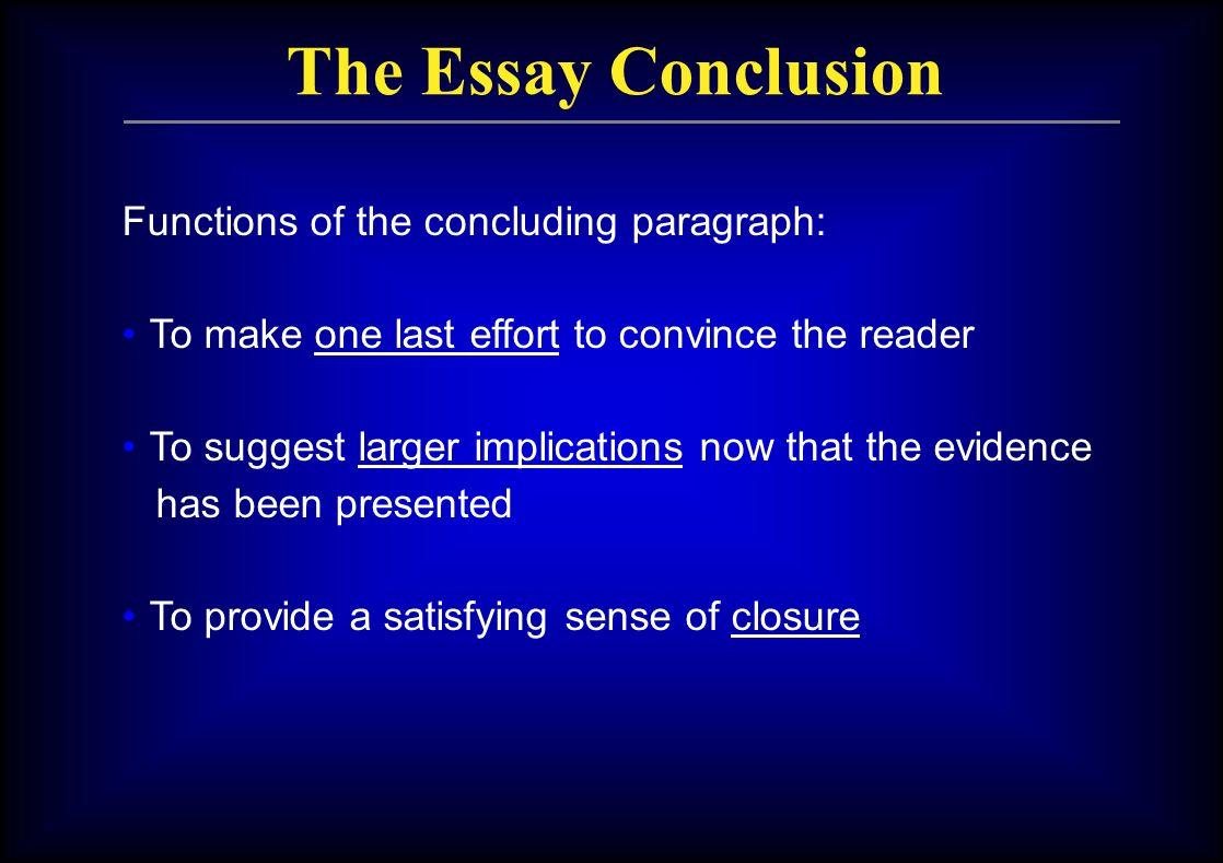 implications essay