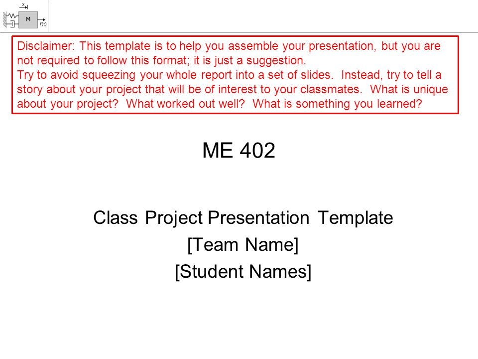 me 402 class project presentation template [team name] [student, Powerpoint templates