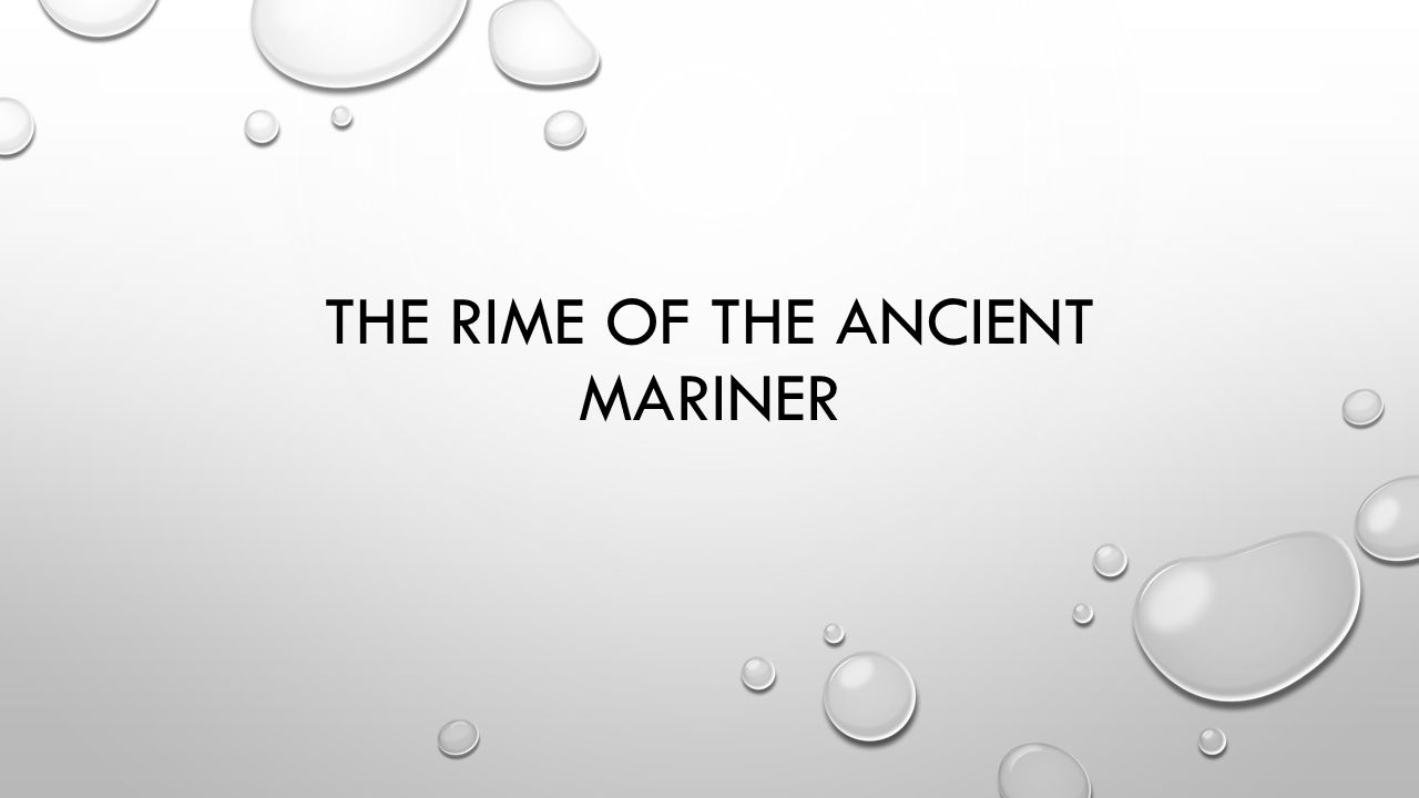 The rime of the ancient mariner warm up what are the major 1 the rime of the ancient mariner biocorpaavc Images
