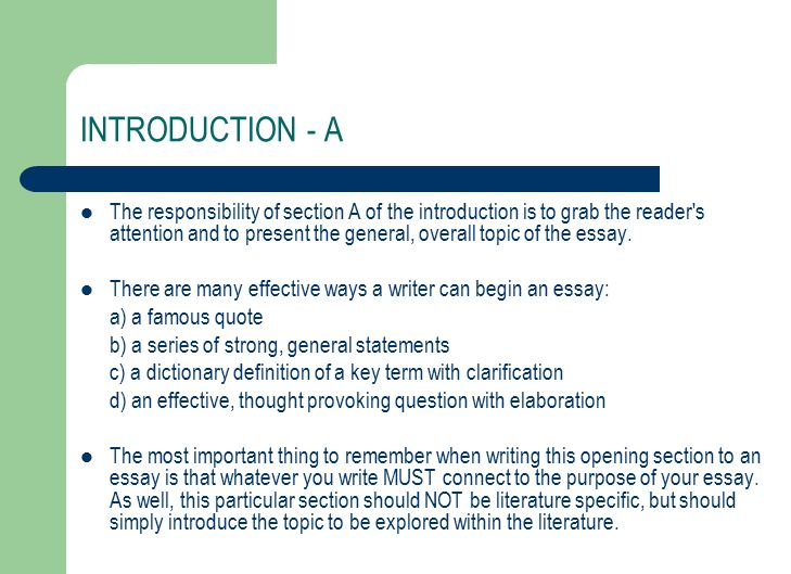 writing a literary essay ela what is a literary essay essentially  5 introduction