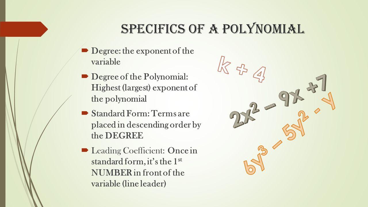 Polynomials polynomials examples monomials 4f 3x 3 4g 2 2 3 specifics falaconquin