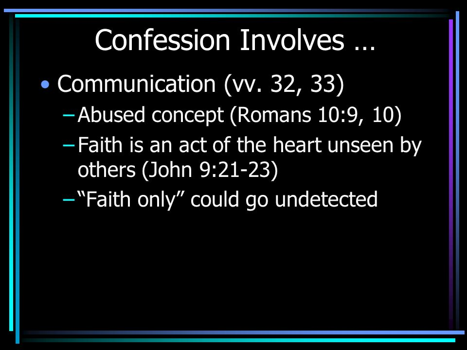 first confession theme