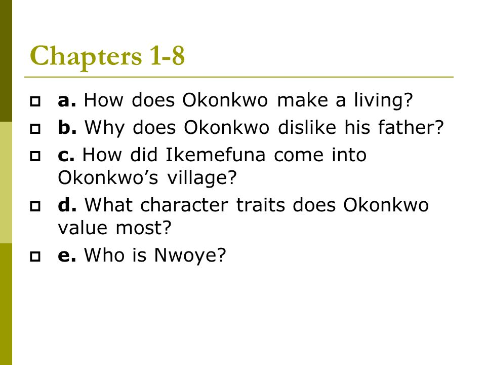 things fall apart and okonkwo a Get an answer for 'what causes the downfall of okonkwo in things fall apart' and find homework help for other things fall apart questions at enotes.