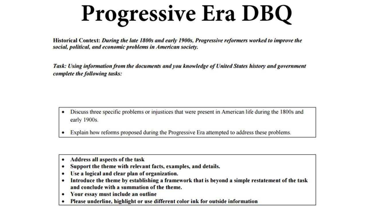 progressives dbq