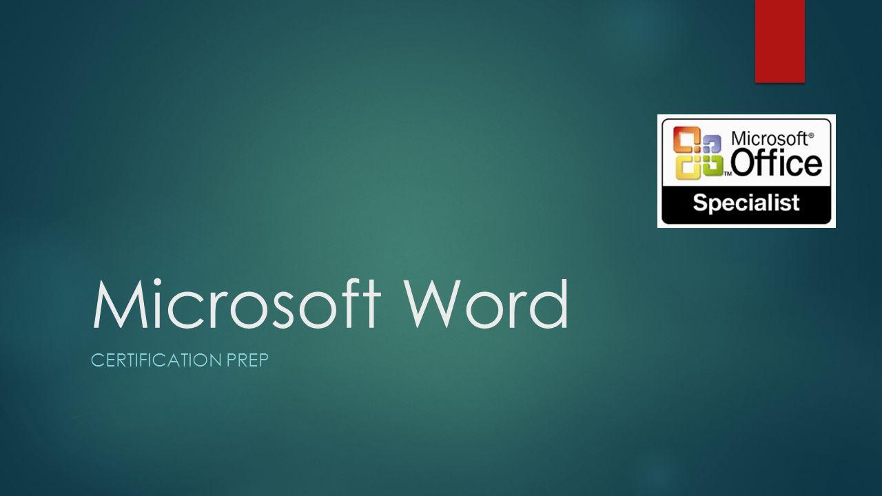 Microsoft word certification prep lesson 1 basic overview ribbon 1 microsoft word certification prep xflitez Images