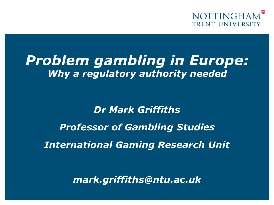 Dr mark griffiths gambling best slots machines to play in vegas