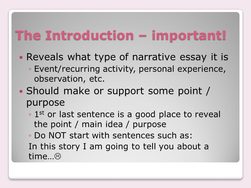 purpose fpr narrative essay The purpose of narrative writing narration means the art of storytelling, and the purpose of narrative writing is to tell when writing a narrative essay.