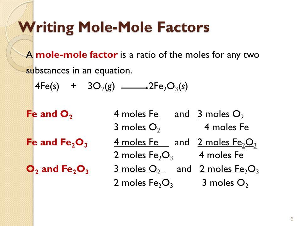 mole mole chemistry