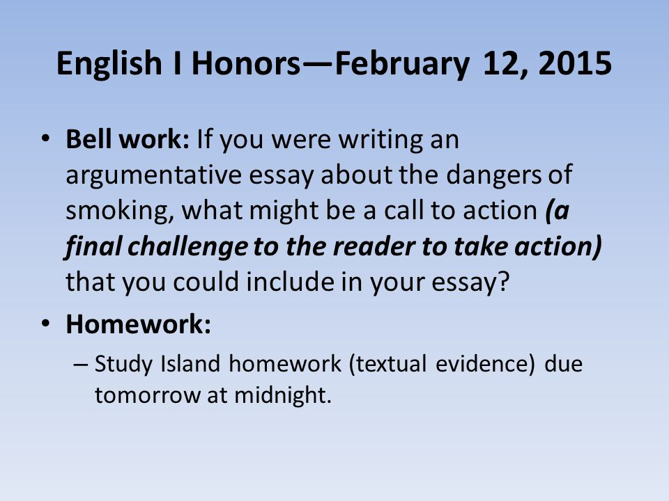Essay Of Argumentation