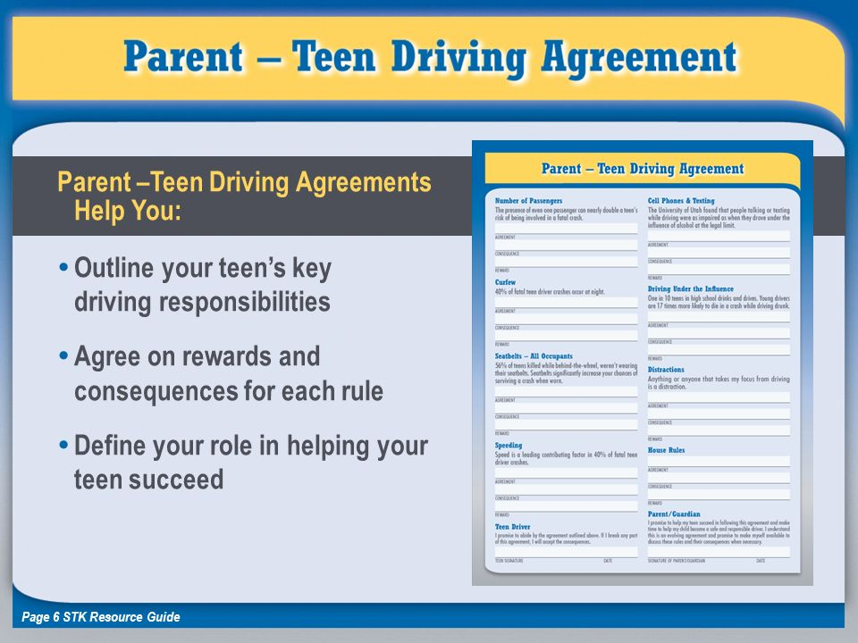 rules teen driving
