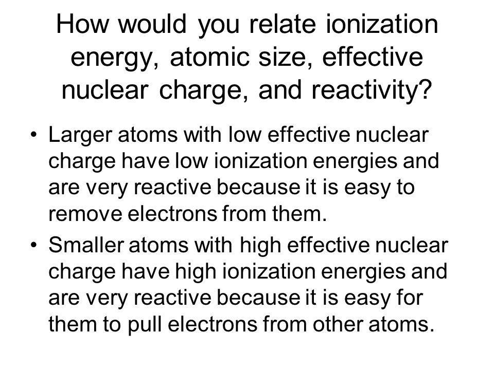 Chapter 10 Ionization Energy Ionization energy is the energy – Ionization Energy Worksheet