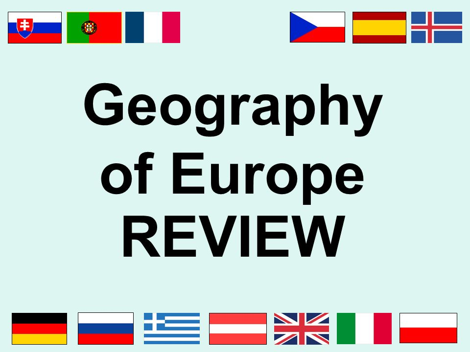 Geography of Europe REVIEW