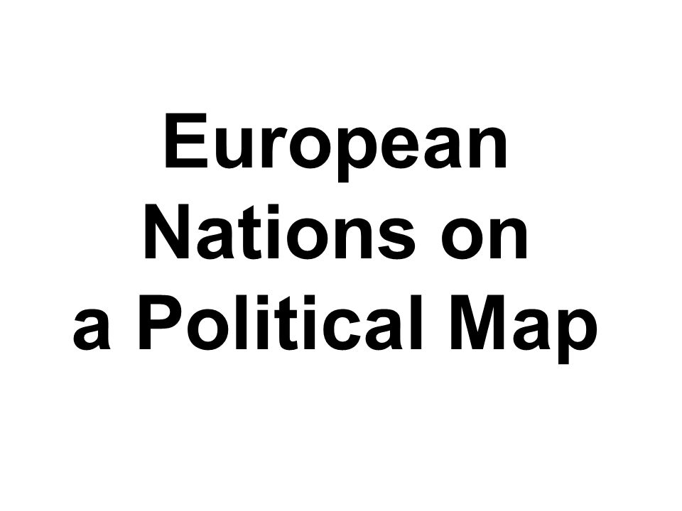 European Nations on a Political Map