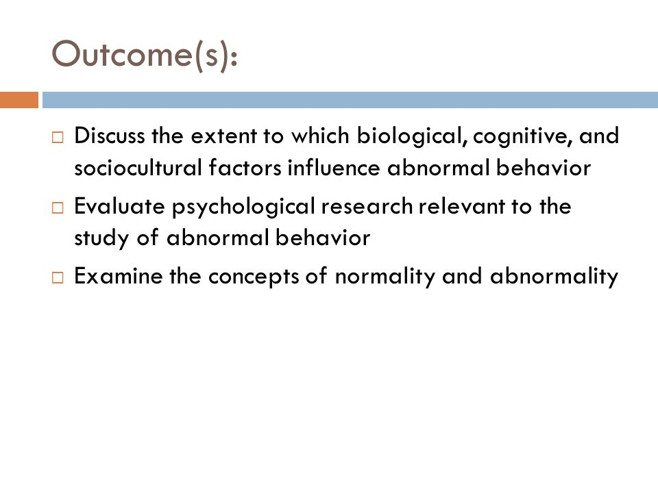 abnormal psych evaluation