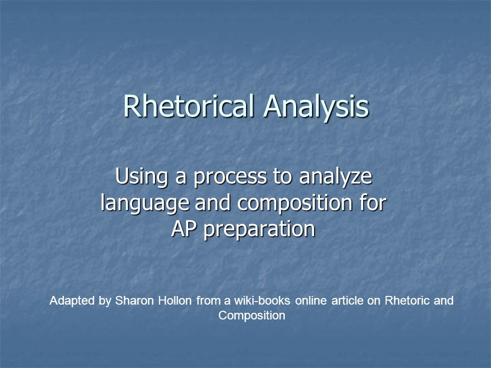 rhetorical analysis on article why our