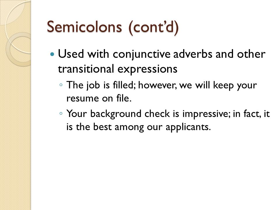effective punctuation periods semicolons and colons ppt download