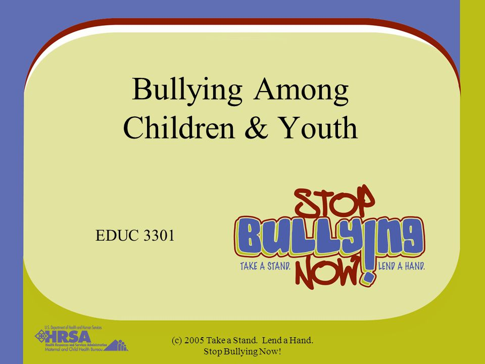 an analysis of bullying among children The act of bullying is not a new phenomenon among children but one that is deserving effects of bullying upon children bullying at school: never acceptable.