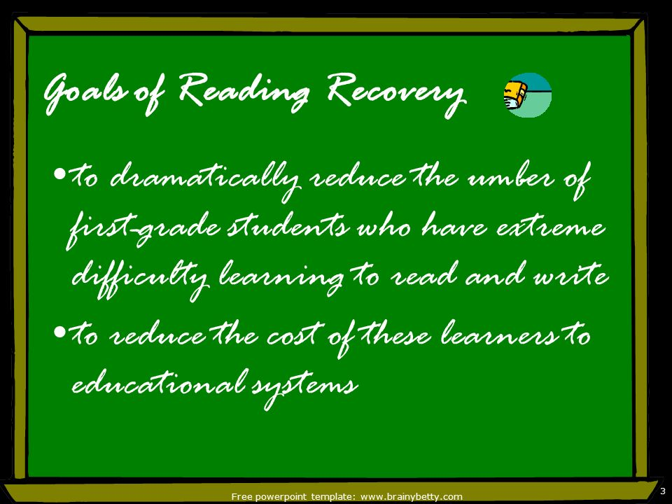 Reading recovery by diana babb free powerpoint template 2 3 free powerpoint toneelgroepblik Choice Image