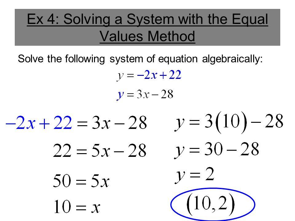 Solving Equations Algebraically - Tessshebaylo