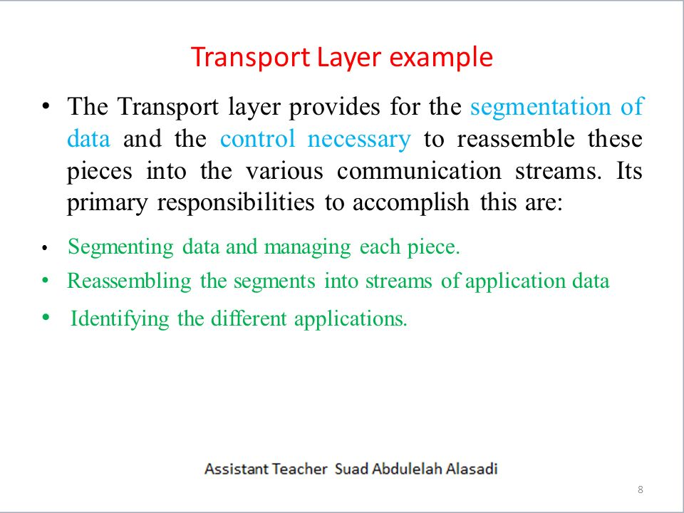 Transport Layer example 9