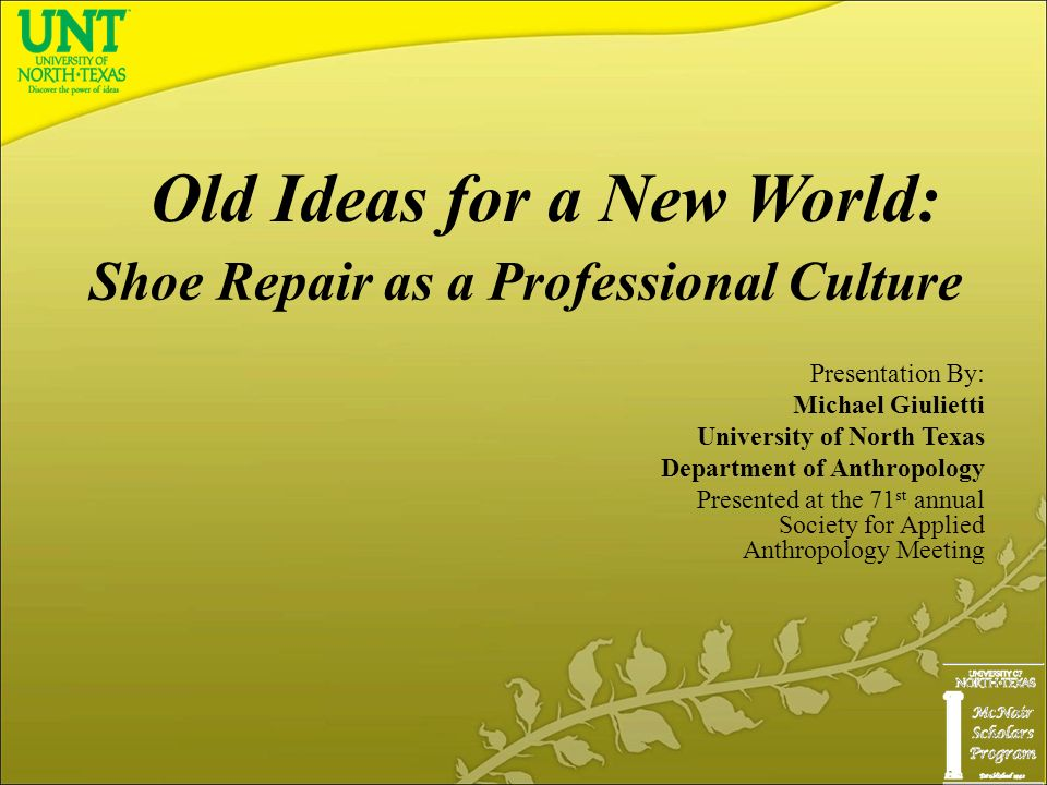 shoe repair as a professional culture presentation by: michael, Powerpoint templates