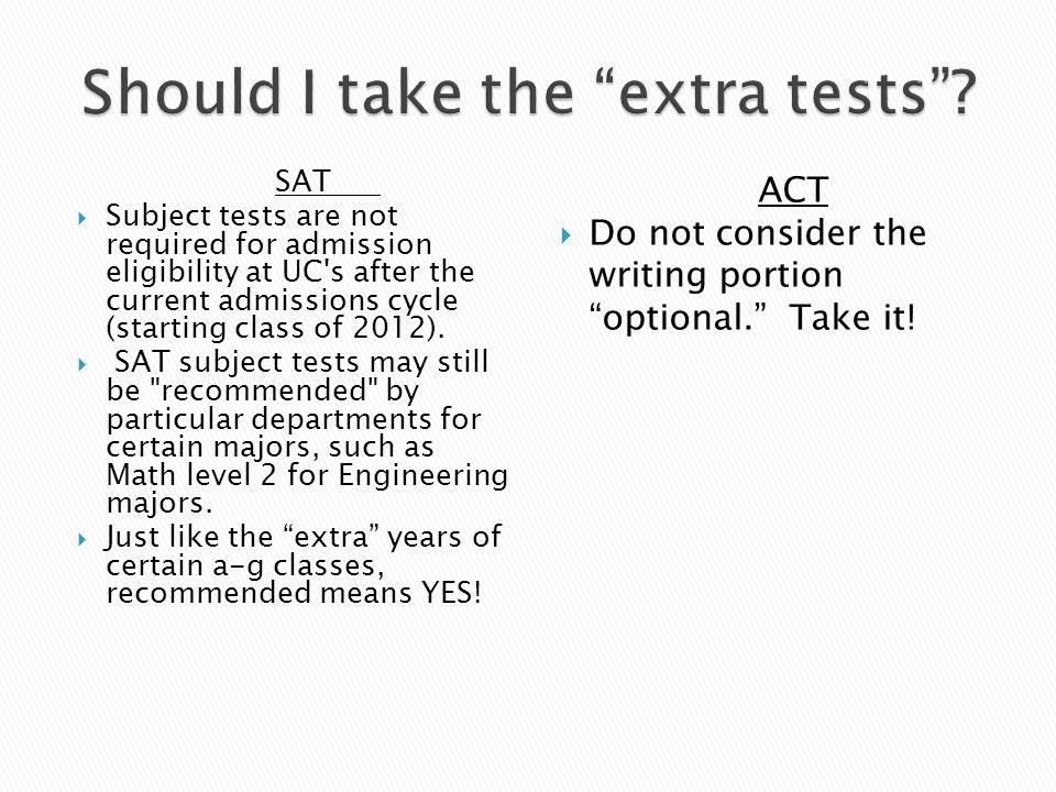 SAT Subject Test vs SAT Reasoning Test?