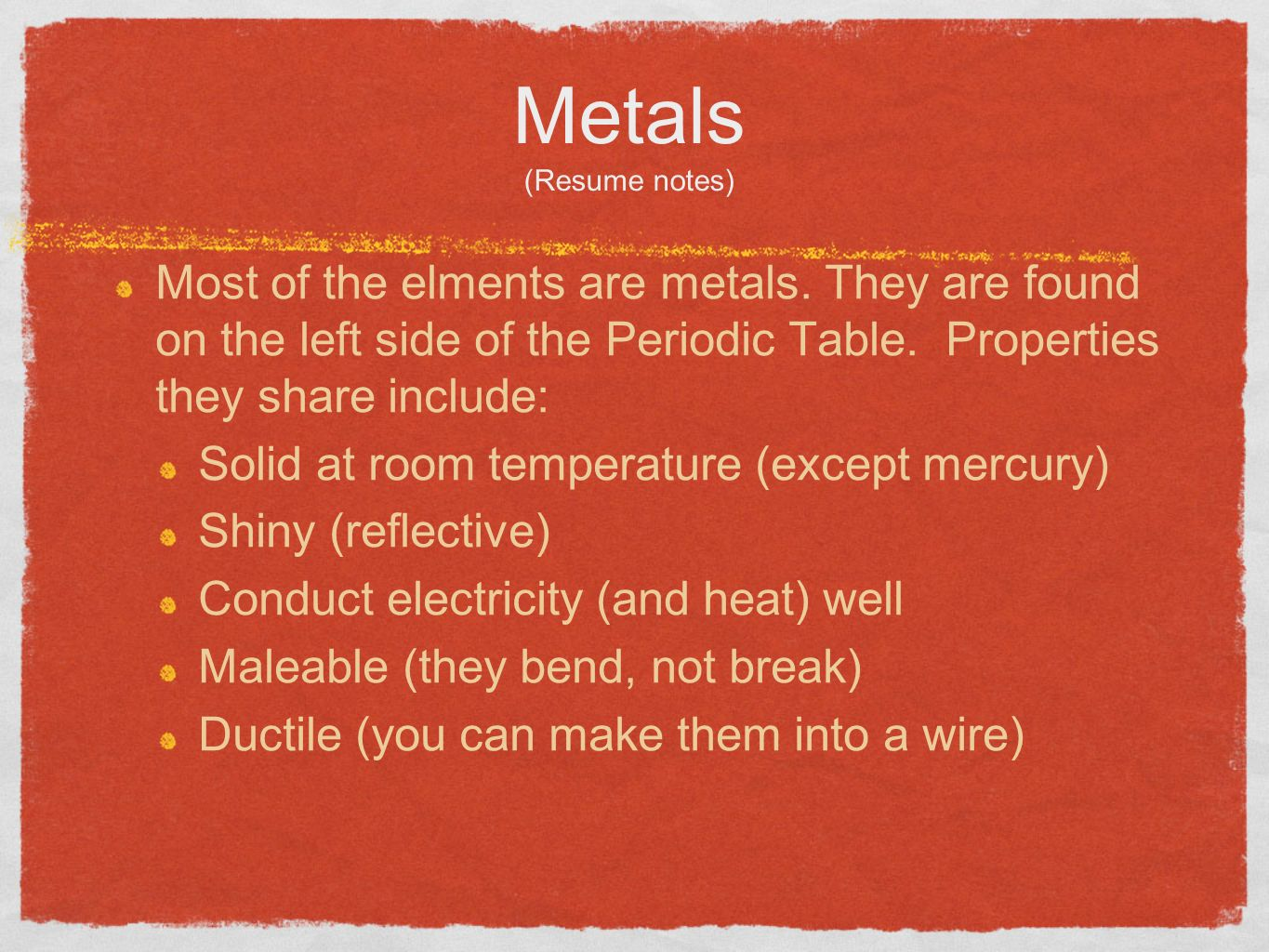Where are metals and nonmetals located on the periodic table getting to know the periodic table get out a textbook and turn to 6 metals resume gamestrikefo Images