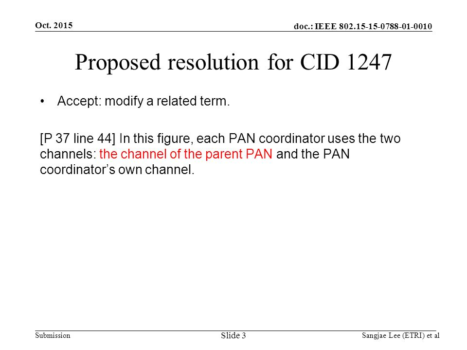 doc.: IEEE Submission Proposed resolution for CID 1247 Accept: modify a related term.