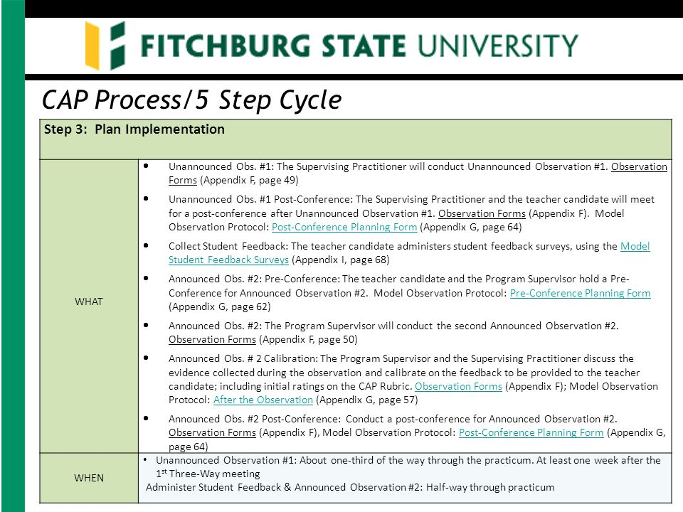 Education Unit The Practicum Experience  The Cap Process  Ppt
