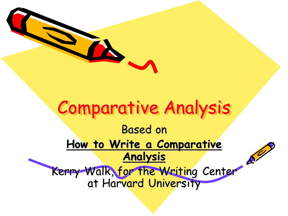 write comparative analysis thesis