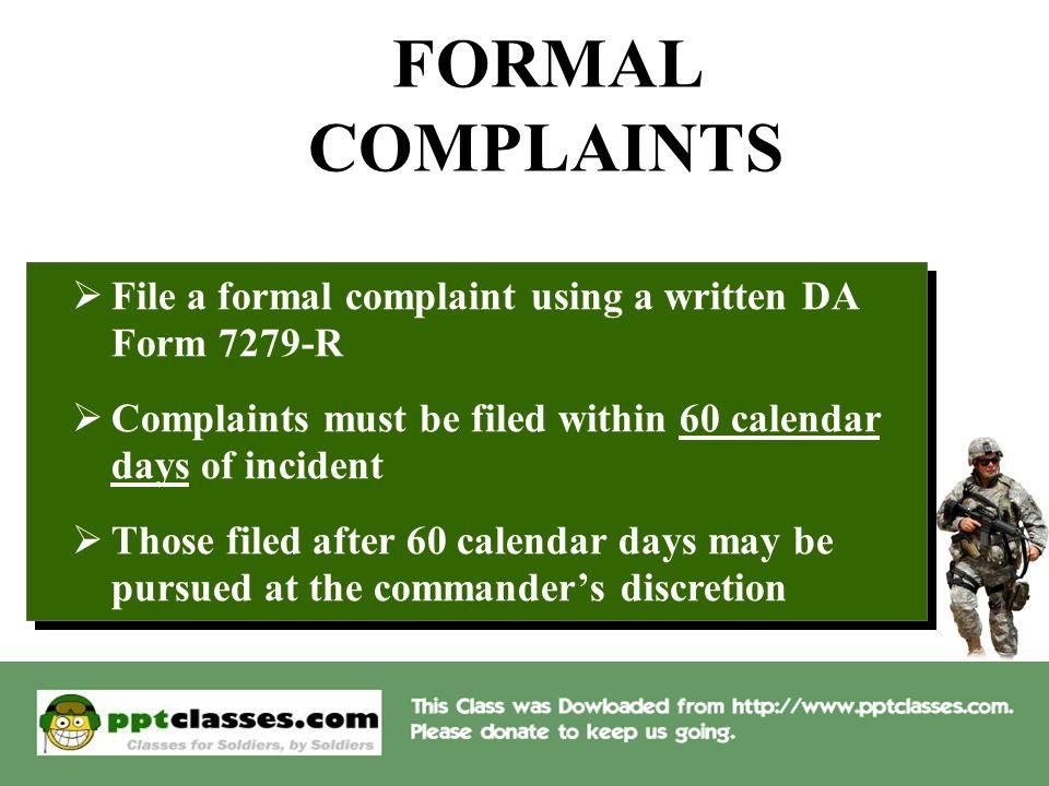 EO COMPLAINT PROCEDURES. OVERVIEW  DEFINE TYPES OF COMPLAINTS ...