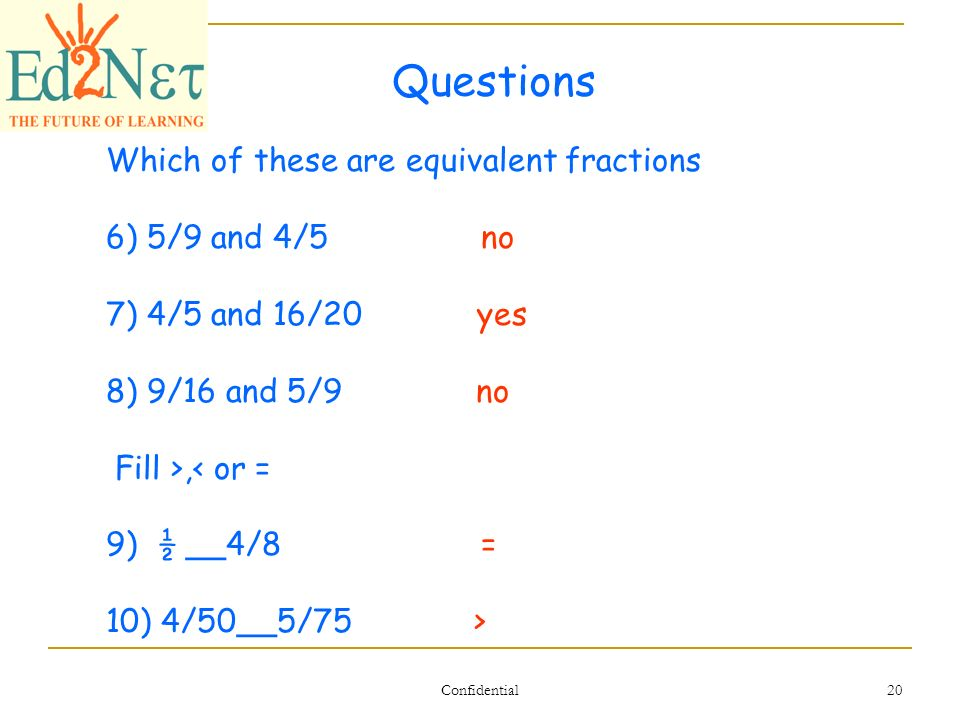 Our Lesson Simplify and Equivalent Fractions Confidential 2 Warm ...