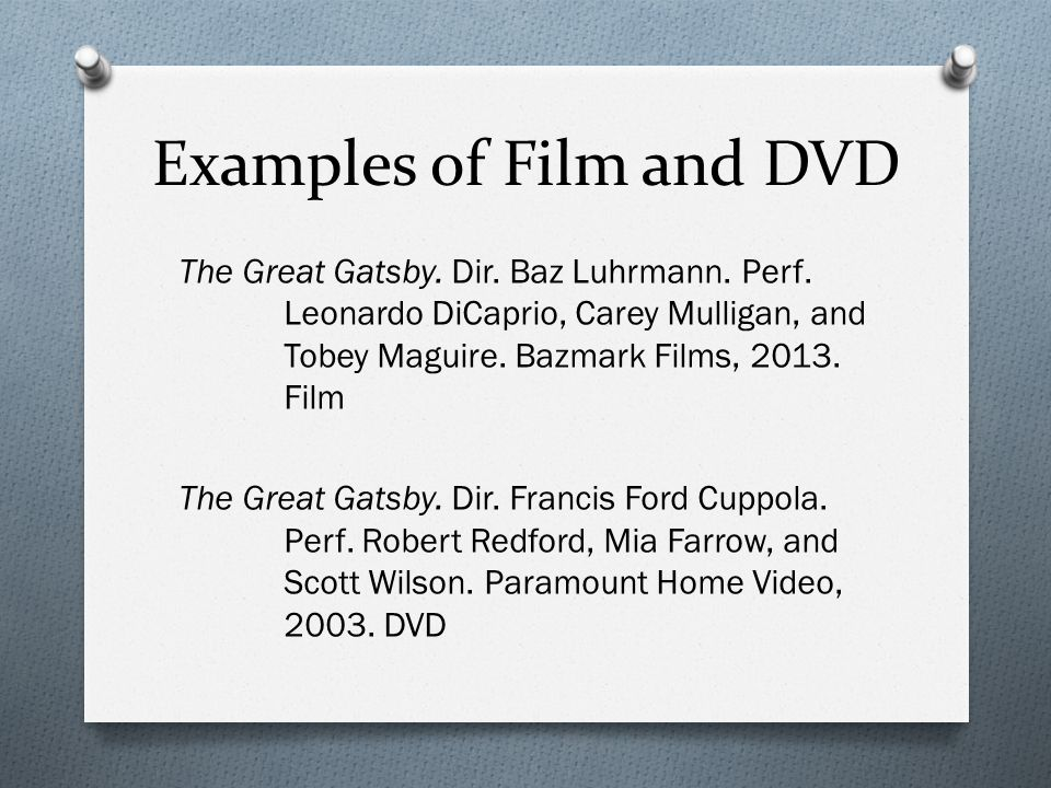 cite dvd essay Tip: when referencing films or dvds, you only need to give the film title and the year of production the first time you reference it after the first mention, you can just use the film title.