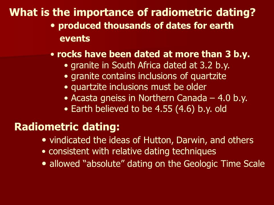3 examples of relative dating techniques