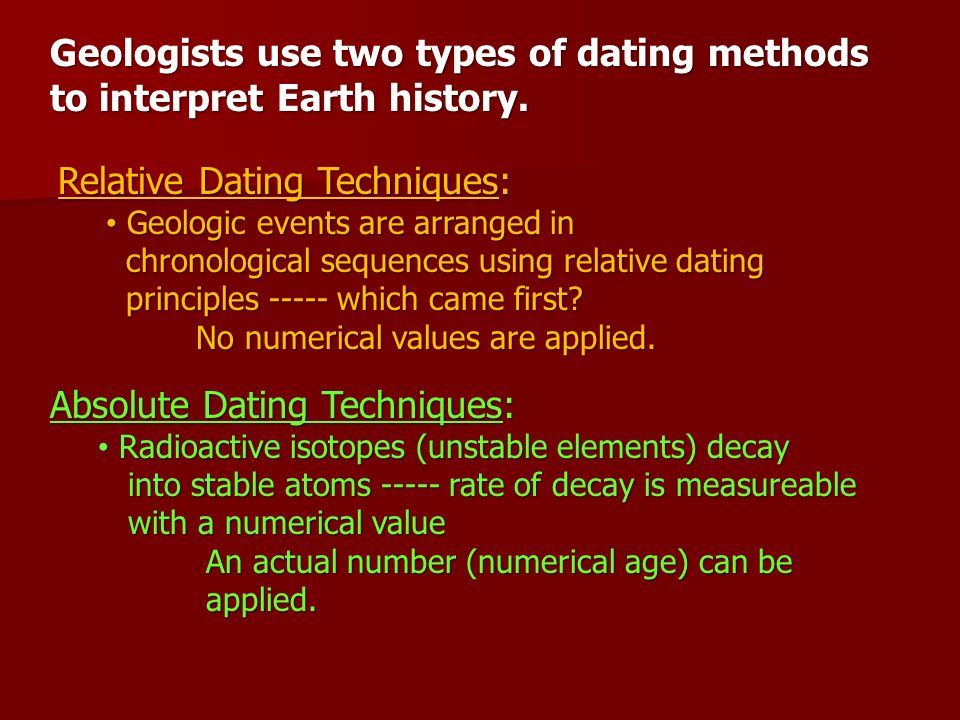 geologists use radioactive dating to