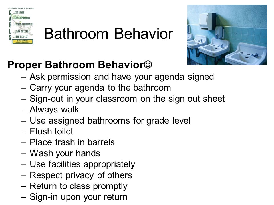 Bathroom Sign Out Classroom clinton middle school training procedures. arrival & dismissal