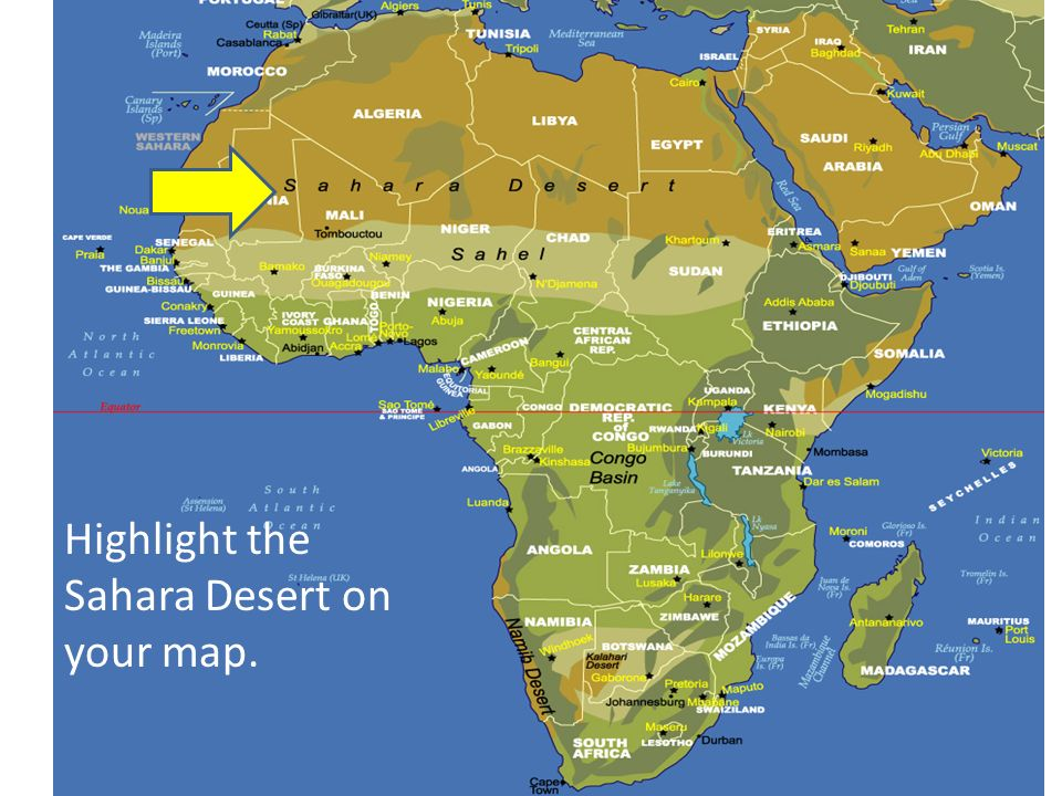 Africa Sahara Desert Map | Map Of Africa