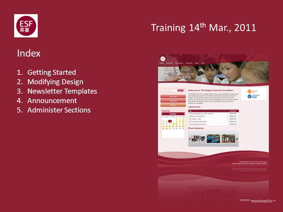 training announcement templates