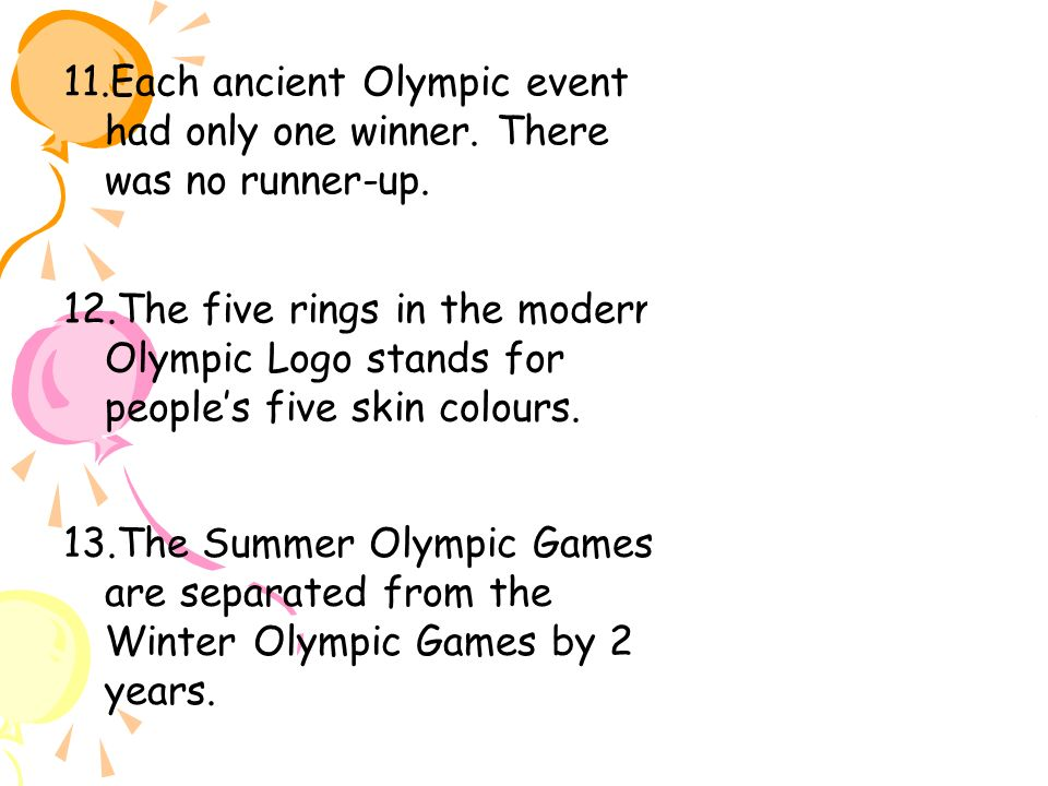 PLEASE HELP!!! ANCIENT OLYMPIC PRESENTATION!?