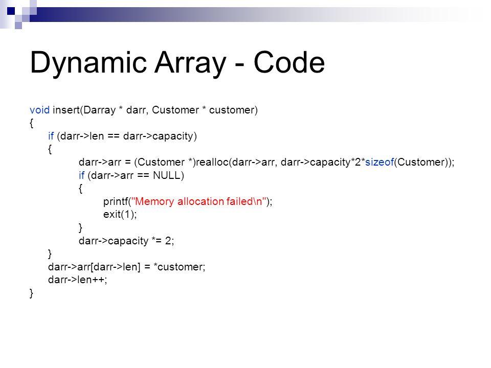 Dynamic array