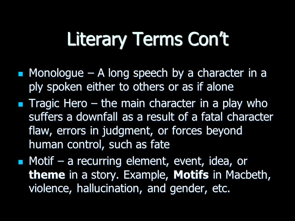 literary terms vocabulary