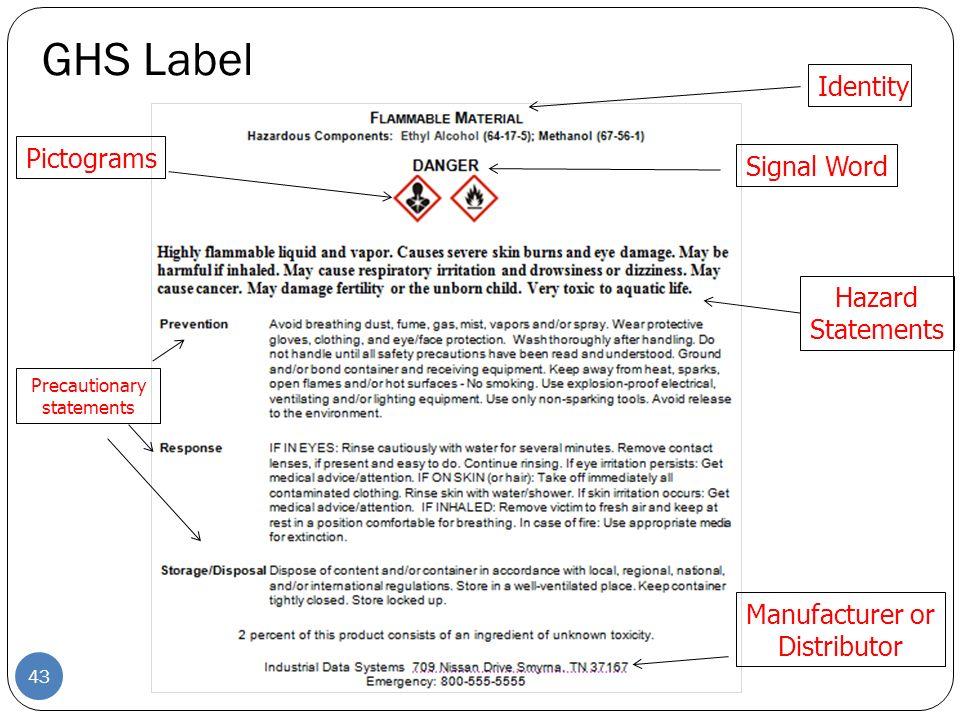 DOT Hazard Placards Class 1-9 42