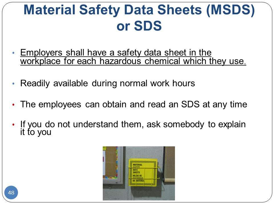 KNOWN BEFORE AS MATERIAL SAFETY DATA SHEETS (MSDS) SAFETY DATA SHEETS (SDS)