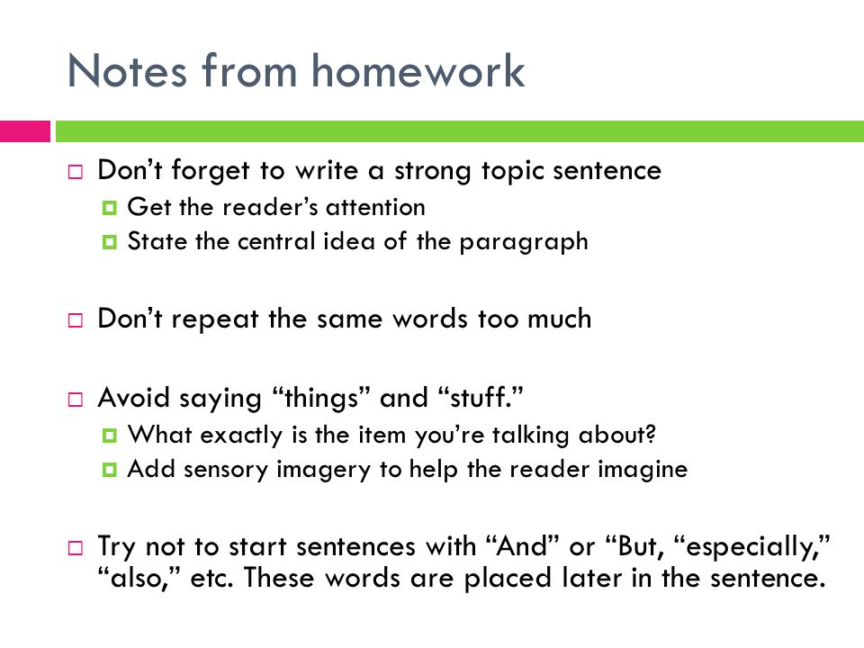 Outlining in english