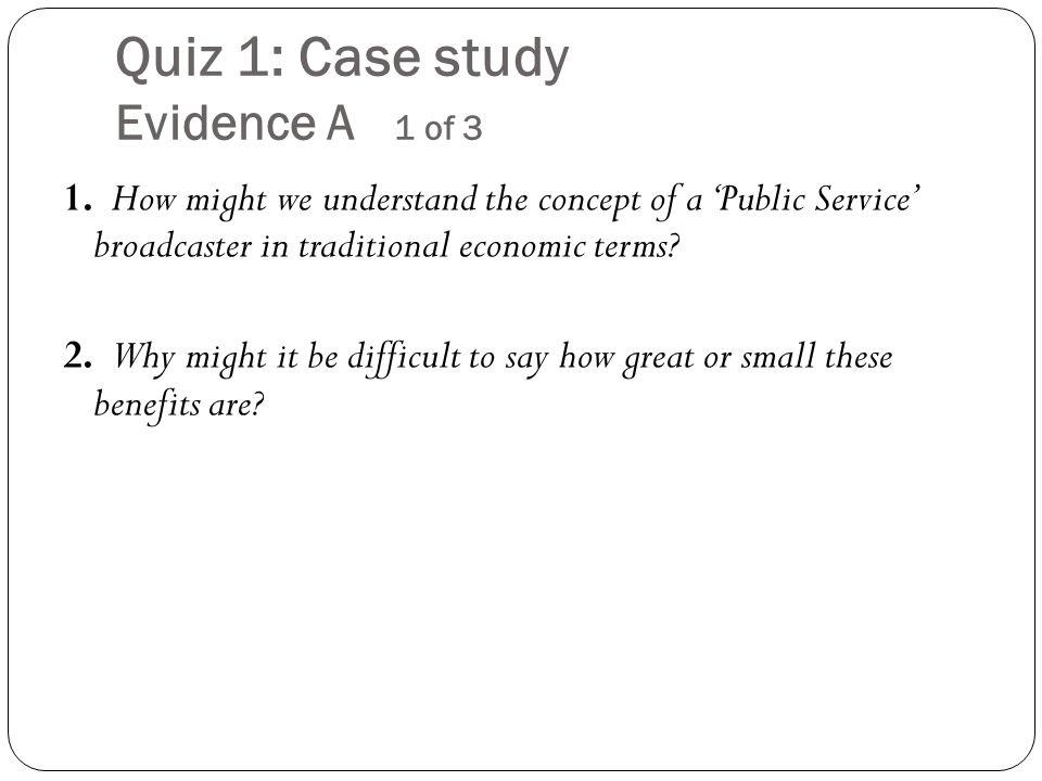 Case study evidence