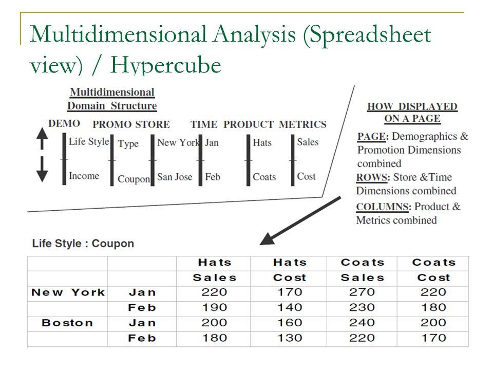 Multidimensional Analysis (Spreadsheet view) / Hypercube