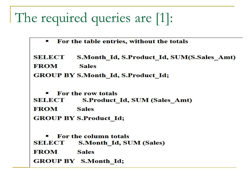 The required queries are [1]: